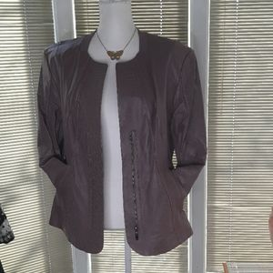 NWOT Pamela McCoy leather purple womens jacket